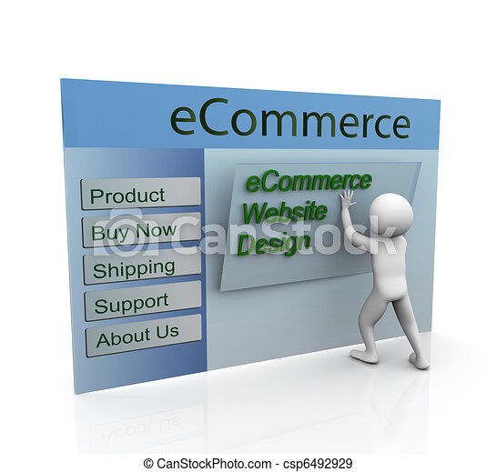 Concept of secure ecommerce web design - csp6492929