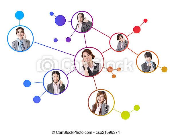 Concept of social media network - csp21596374