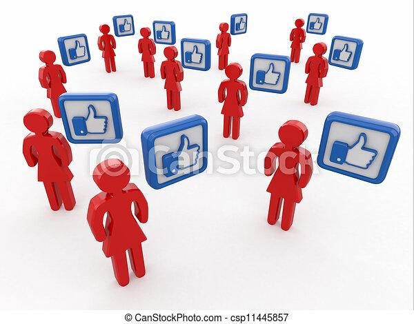 Concept of social network.  - csp11445857