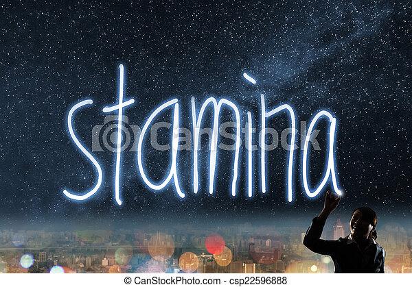 Concept of stamina - csp22596888