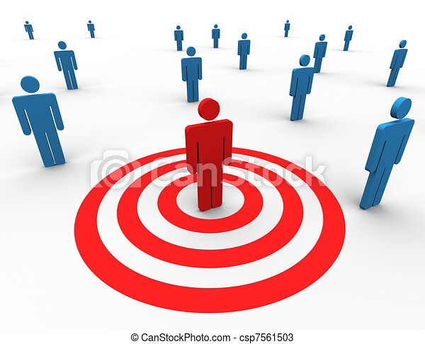 Concept of targeting people - csp7561503