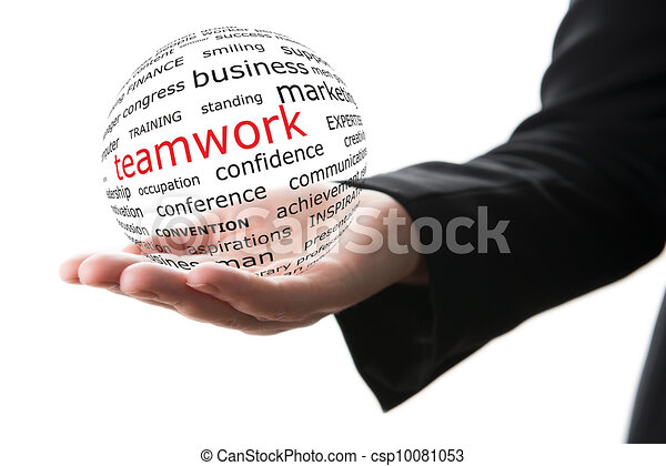 Concept of teamwork in business - csp10081053