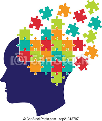 Concept of thought to solve brain.  - csp21313797
