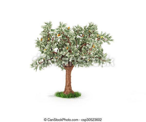 concept, or, business, arbre argent, économies, fruits, ou - csp30523602