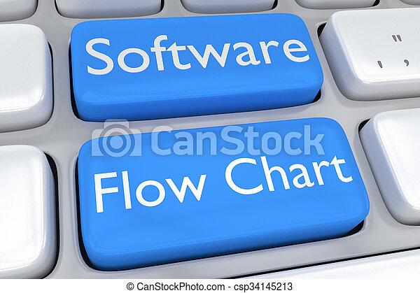 concept, organigramme, logiciel - csp34145213
