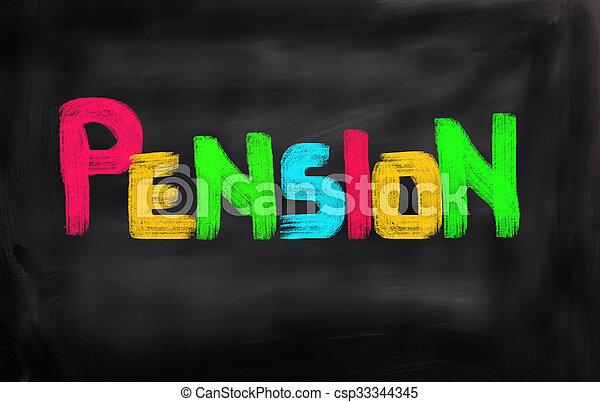 concept, pension - csp33344345