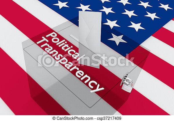 concept, politique, transparence - csp37217409
