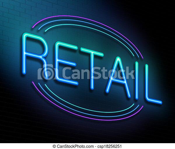 concept., prodávat v malém - csp18256251