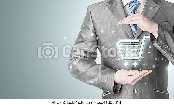 Consumidor concepto de protección. - csp41608814