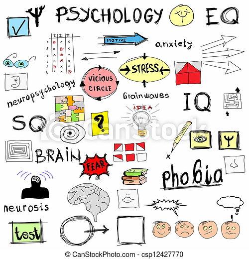 concept, psychologie - csp12427770