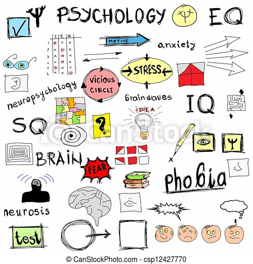 Concept Psychology Color Doodle Icons And Symbols