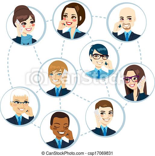 concept, réseau, business - csp17069831