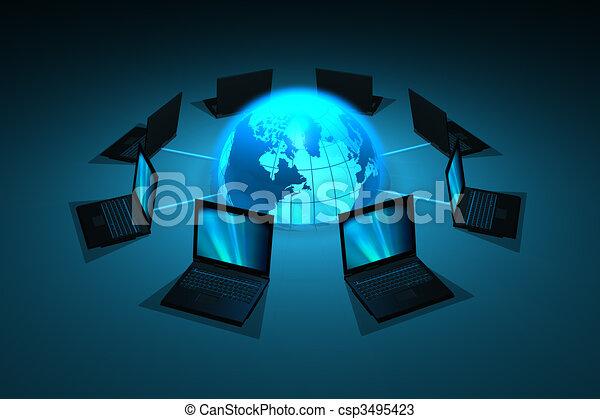 concept, réseau - csp3495423