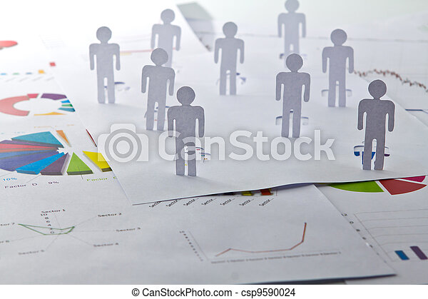 concept, réseau, gens, bois, haut, couper papier, social, fin, :, table, dehors - csp9590024