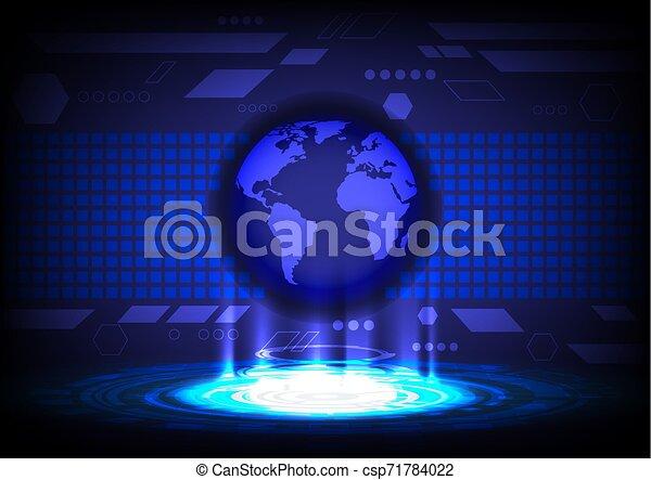 concept, résumé, vecteur, fond, mondiale, technologie - csp71784022