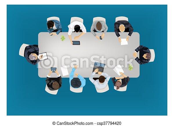 concept, réunion, business - csp37794420
