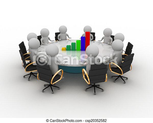 concept, réunion, business - csp20352582