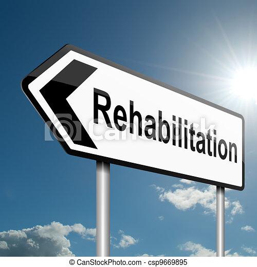Concepto de rehabilitación. - csp9669895