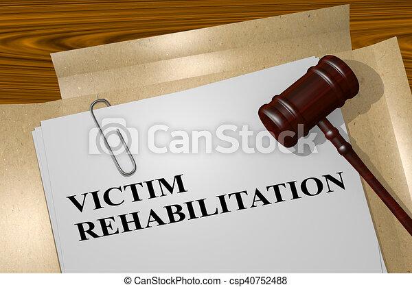 concept, rehabilitatie, slachtoffer - csp40752488