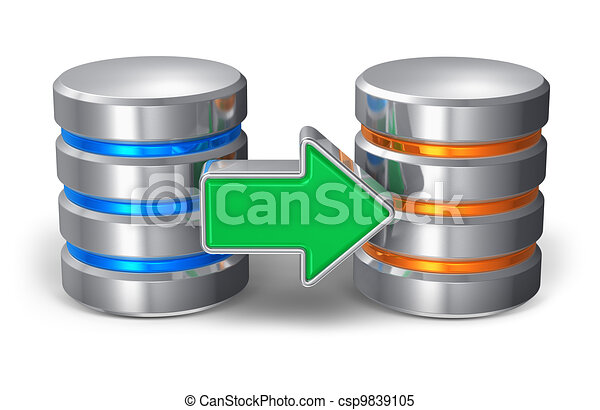 concept, reservekopie, databank - csp9839105