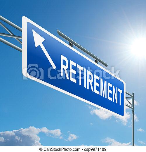 concept., retraite - csp9971489