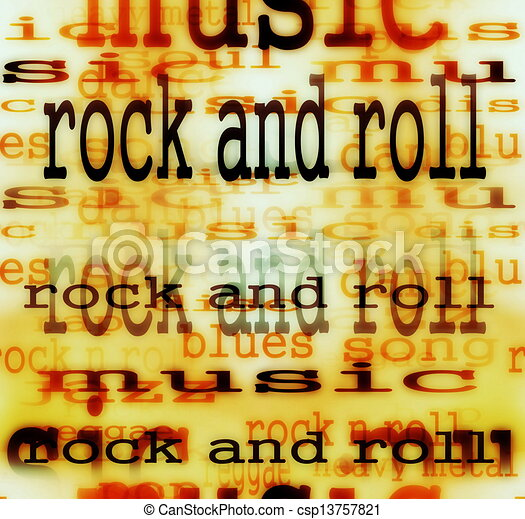 Concept Rock and roll word  - csp13757821