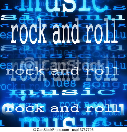 Concept Rock and roll word  - csp13757796