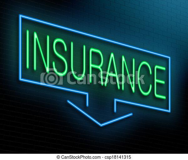Un concepto de seguro. - csp18141315