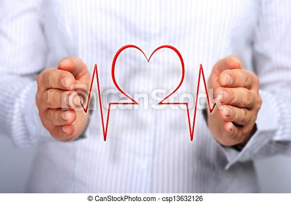 El concepto de seguro de salud. - csp13632126