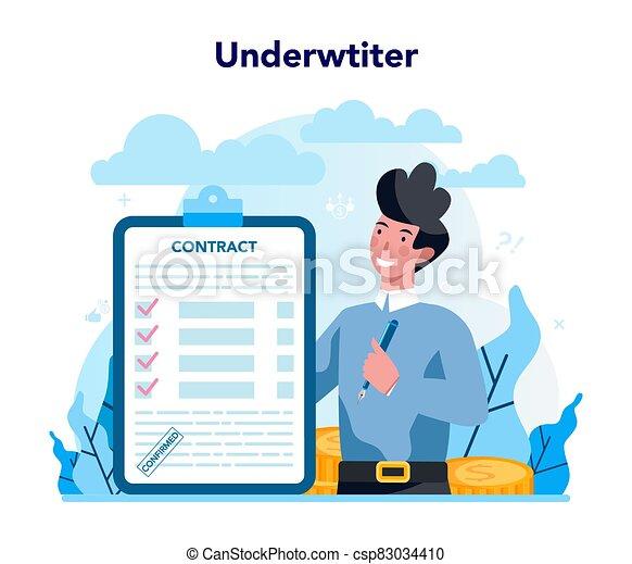 concept., seguro, pago, empresa / negocio, caso, financiero, underwriter - csp83034410