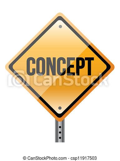 """concept"" sign - csp11917503"