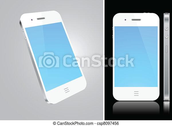 concept., smartphone, touchscreen, blanc - csp8097456