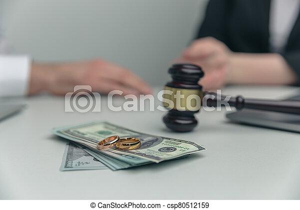 concept., soldi., legno, legale, vista, martelletto, alimenti, closeup - csp80512159