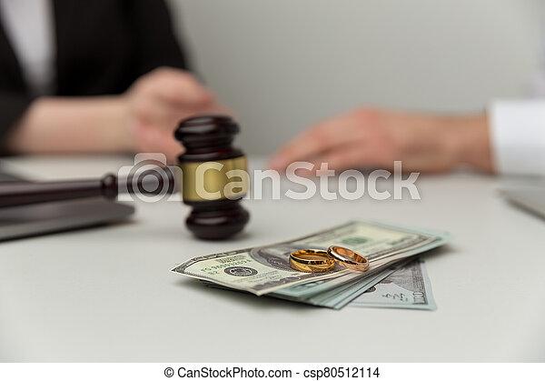 concept., soldi., legno, legale, vista, martelletto, alimenti, closeup - csp80512114