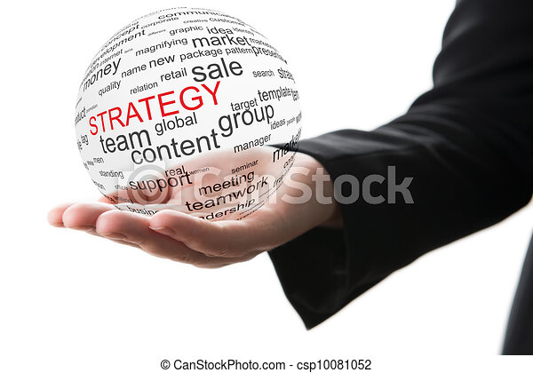 concept, stratégie commerciale - csp10081052