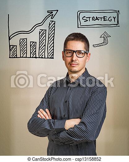 concept, stratégie commerciale - csp13158852