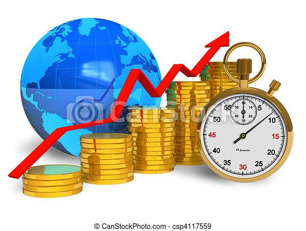 concept, succès financier - csp4117559