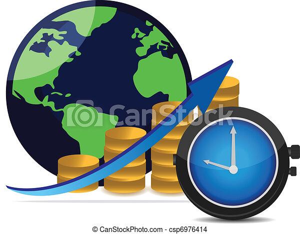 concept, succès financier - csp6976414