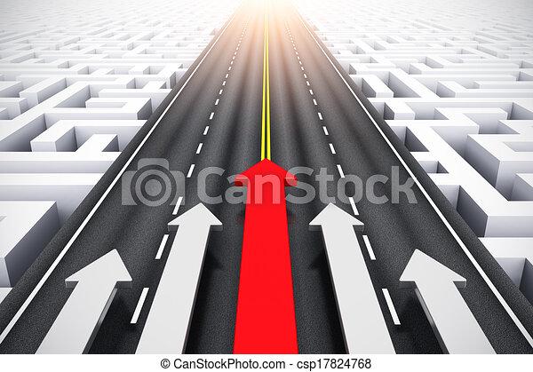 concept, succes, bewindvoering - csp17824768