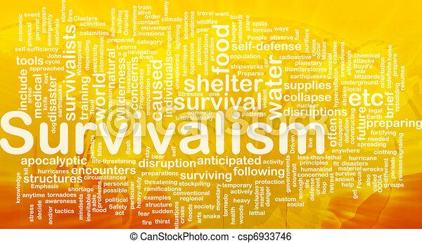 concept, survivalism, achtergrond - csp6933746