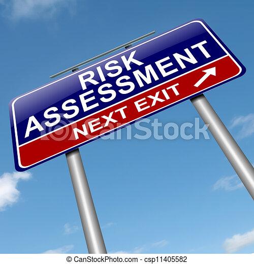 El concepto de evaluación del riesgo. - csp11405582