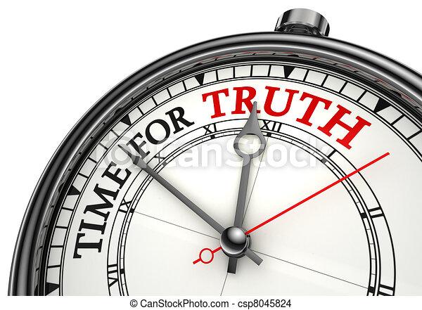 concept, temps, vérité, horloge - csp8045824