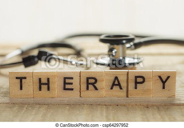 concept, thérapie, santé médicale, soin - csp64297952