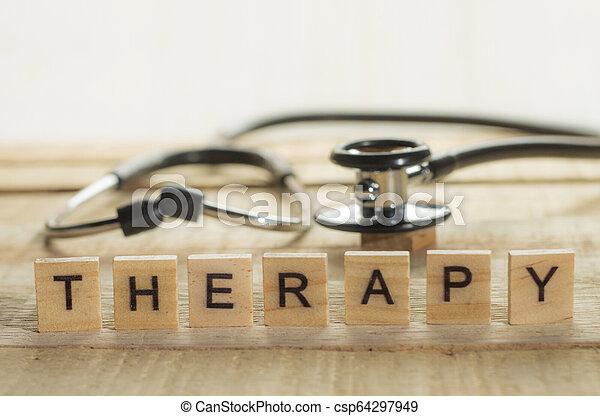 concept, thérapie, santé médicale, soin - csp64297949