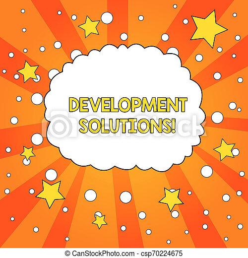 concept, tonalité, texte, planification, vide, nuage, besoins, basé, efficace, écriture, circles., parole, étoiles, orange, bulle, développement, business, compagnie, fond, mot, sunburst, solutions. - csp70224675