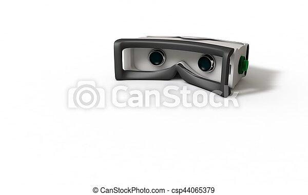 concept, tridimensionnel, étude, réalité virtuelle, 3, lunettes - csp44065379