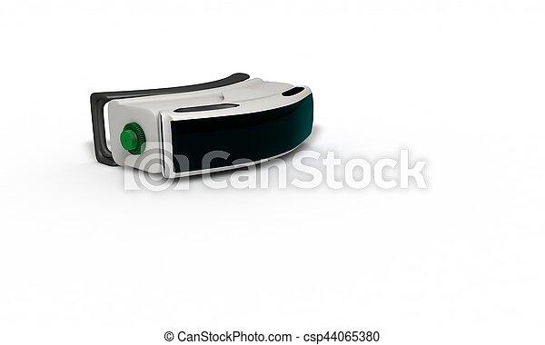 concept, tridimensionnel, étude, réalité virtuelle, 2, lunettes - csp44065380