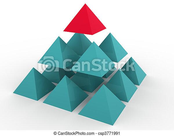concept, tridimensionnel - csp3771991