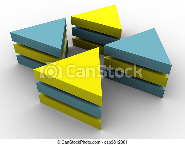 concept, tridimensionnel - csp3812301