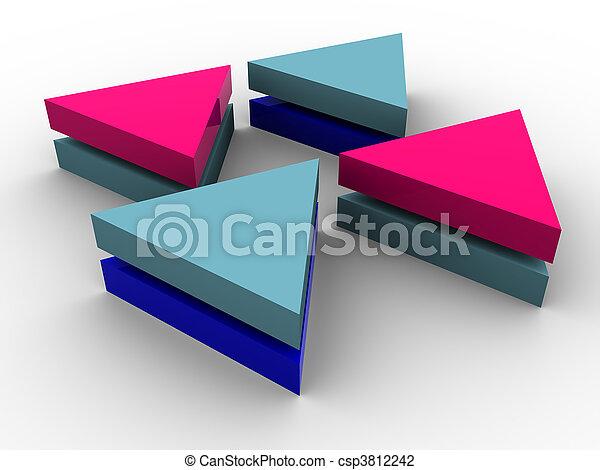 concept, tridimensionnel - csp3812242